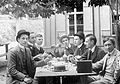 Tableau, men, drinking, hat, smoking Fortepan 2356.jpg