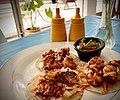 Taco de camaron, Bacalar, Quintana Roo, Mexico.jpg