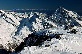 Alagna Valsesia - Image: Tagliaferro m.2964 dal passo dei Salati