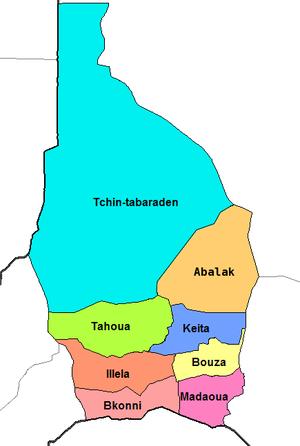 Tahoua Department - Image: Tahoua Region departments crop