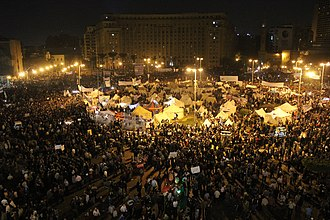2012–13 Egyptian protests - Hundreds of thousands of people protesting in Tahrir Square on the evening of 27 November 2012