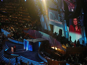 Tammy Duckworth - Duckworth speaks during the third night of the 2008 Democratic National Convention in Denver, Colorado.