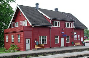 Peter Andreas Blix - Image: Tangen station