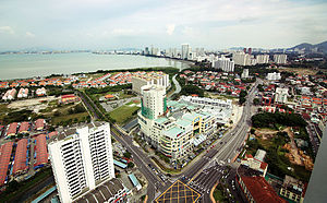 Tanjung Tokong - Aerial view of Tanjung Tokong, looking towards Gurney Drive, George Town