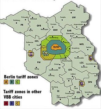 Verkehrsverbund Berlin-Brandenburg - VBB fare structure
