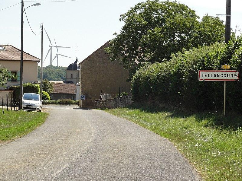 Tellancourt (Meurthe-et-M.) city limit sign