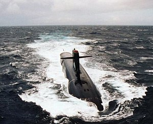 Thermonuclear weapon - One of France's Triomphant-class nuclear-armed submarines, the Téméraire (S617)