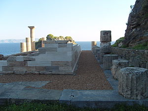 Kea (island) - Temple of Athena (Karthaia) on the island