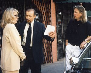 Teri Garr - Garr and Hector Elizondo on the set of Perfect Alibi with director Kevin Meyer