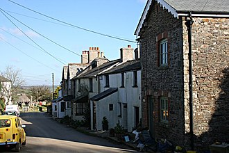 Lawhitton - Image: Terrace of Cottages in Lawhitton geograph.org.uk 330665