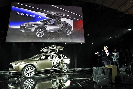 Tesla Model X concept unveiled in Hawthorne California. - Tesla Motors