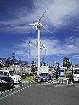 Tesla Roadster being charged, Iwata city, Japan