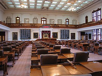 Government of Texas - The House of Representatives Chamber in the Texas State Capitol