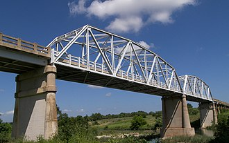 National Register of Historic Places listings in Mason County, Texas - Image: Texas hwy 9 bridge llano river
