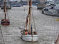 Thames barge parade - in the Pool - Reminder 6729.JPG