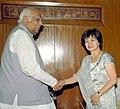 The Ambassador of Philippines, Ms. Laura Q Del Rosario calls on the Speaker, Lok Sabha Shri Somnath Chatterjee in New Delhi on March 24, 2005.jpg