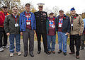 The Assistant Commandant of the Marine Corps, Gen. John M. Paxton, Jr., center, poses for a photo with veterans during an Honor Flight event at the Marine Corps War Memorial in Arlington, Va., Sept 131112-M-KS211-007.jpg