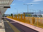 The Canyon (artistic fence) at Airport station, Aug 15.jpg