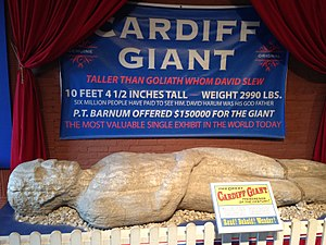 Cardiff Giant - The Cardiff Giant at the Farmers' Museum