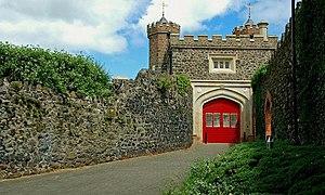 Antrim Castle - Image: The Castle Walls, Antrim (2) geograph.org.uk 880402