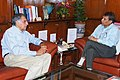 The Chairman of Tata Group, Shri Ratan Tata meeting the Union Minister for Railways, Shri Suresh Prabhakar Prabhu, in New Delhi on March 13, 2015.jpg