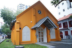 Kampong Kapor Methodist Church - The building at Middle Road