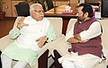 The Chief Minister of Haryana, Shri Manohar Lal Khattar meeting the Minister of State for Minority Affairs (Independent Charge) and Parliamentary Affairs, Shri Mukhtar Abbas Naqvi, in New Delhi on August 22, 2016.jpg