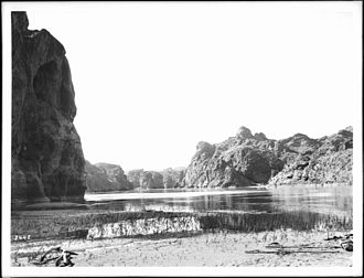 Mohave Canyon - Photograph of the Colorado River entering Mojave Canyon, San Bernardino County, California, 1900–1950