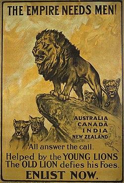 War I recruitment poster