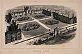 The Hospital of St. Peter, Wandsworth; bird's-eye view. Wood Wellcome V0013786.jpg