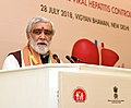 The Minister of State for Health & Family Welfare, Shri Ashwini Kumar Choubey addressing at the launch of the National Viral Hepatitis Control Program, on the occasion of the 'World Hepatitis Day', in New Delhi.JPG