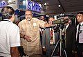 The Minister of State for Micro, Small & Medium Enterprises (IC), Shri Giriraj Singh visiting the exhibition, at the Defence & Homeland Security Expo and Conference 2018, in New Delhi on September 07, 2018 (1).JPG