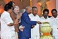 The President, Shri Ram Nath Kovind lighting the lamp to inaugurate the 'Festival on Democracy' to mark the conclusion of Diamond Jubilee celebrations of Kerala Legislative Assembly, at Thiruvananthapuram.JPG