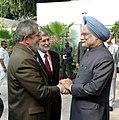 The Prime Minister, Dr. Manmohan Singh with the President of Brazil, Mr. Lula da Silva, in New Delhi on October 15, 2008.jpg