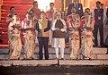The Prime Minister, Shri Narendra Modi and the Prime Minister of Japan, Mr. Shinzo Abe offering prayers during the Ganga Aarti at Dashashwamedh Ghat, in Varanasi, Uttar Pradesh on December 12, 2015 (1).jpg