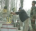 The Prime Minister, Shri Narendra Modi laying wreath to the martyrs, at the Badamibagh headquarters of the Indian Army, in Srinagar, Jammu and Kashmir on December 08, 2014.jpg