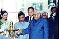 The Prime Minister Shri Atal Bihari Vajpayee lighting the traditional lamp to inaugurate the development of work for Dr. Bhimrao Ambedkar National Memorial and Museum at a function organised by Ministry of Social Justice &.jpg