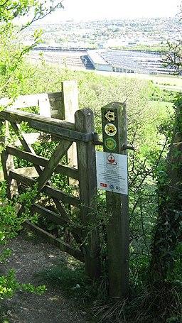 The Saxon Shore Way and North Downs Way arrive at Cheriton Hill - geograph.org.uk - 1274757