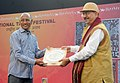 The Secretary Ministry of Tribal Affairs, Dr. H. Panda presented the prizes at the closing ceremony of the National Tribal Festival- 2015 VANAJ, in New Delhi on February 18, 2015 (1).jpg