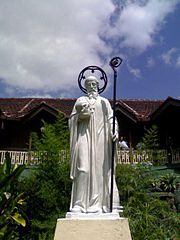 The Statue of Sylvester Gozzolini at St. Sylvester's College Kandy Sri Lanka.jpg