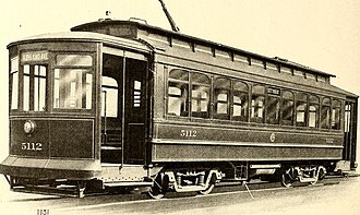 Chicago City Railway - Electric steetcar of the Chicago City Railway Company
