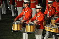 The United States Marine Drum & Bugle Corps performs on the parade deck of Marine Barracks Washington during the Evening Parade 090814-M-HK712-232.jpg