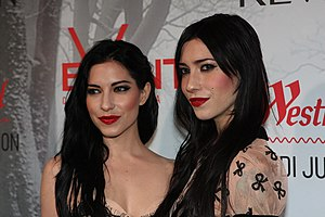 The Veronicas - The Veronicas at the Snow White and the Huntsman movie premiere, Sydney, Australia, 2012.