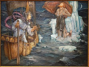 Brendan - The Voyage of Saint Brendan by Edward Reginald Frampton, 1908