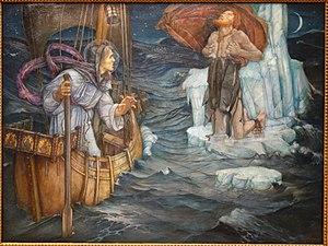Brendan - The Voyage of Saint Brendan by Edward Reginald Frampton, 1908