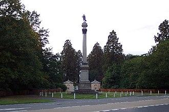 Stratfield Saye House - The Wellington Memorial at the entrance to Stratfield Saye House.