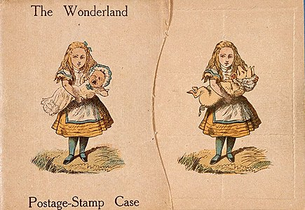 The Wonderland postage stamp case designed by Lewis Carroll.jpg