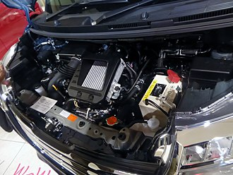 Toyota KR engine - Image: The engine room of Toyota ROOMY CUSTOM G T 2WD (DBA M900A AGBVJ)