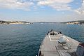 The guided missile destroyer USS Ross (DDG 71) transits the Bosporus en route to the Black Sea Sept 140903-N-IY142-210.jpg