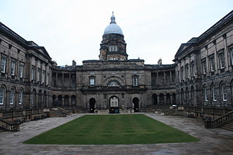 Old College, University of Edinburgh - The remodelled central courtyard, Old College, Edinburgh (2013)
